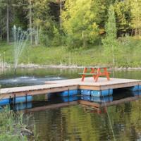 Bouddha moqueur lac retraite yoga meditation copie